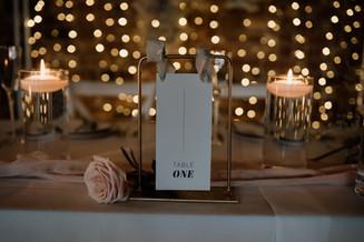 Larkspur Wedding Table Number