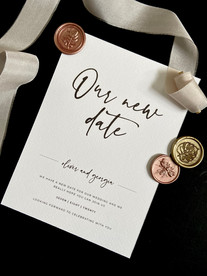Our New Date Textured Card