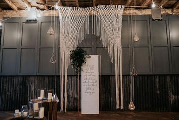 Linen Hanging Sign