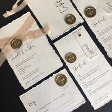 Cotton Handmade Wedding Stationery