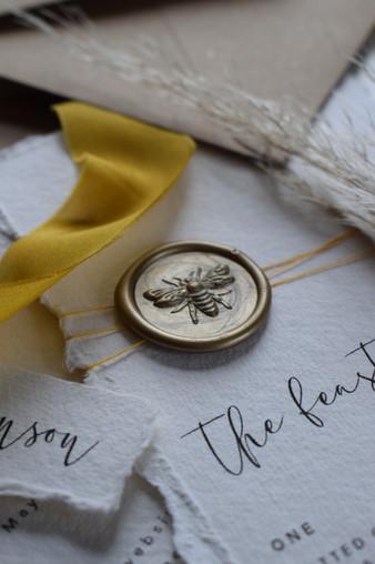 3D Bee Wax Seals Antique Gold