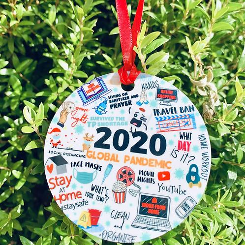 2020 Round ornament