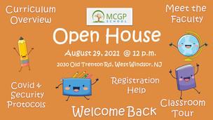 2021-2022 MCGP School OPEN HOUSE, 8/29