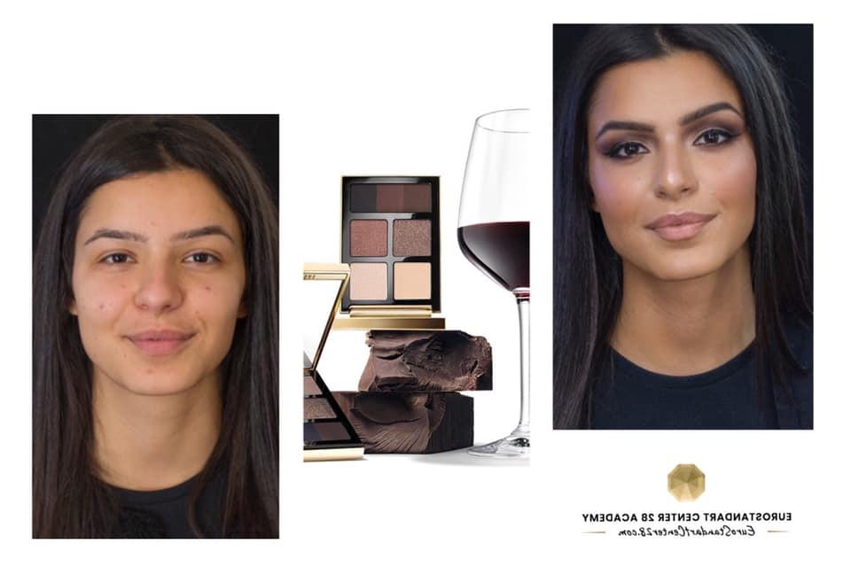 грим и вино / преди и след