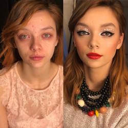 Преди и след - грим за реклама