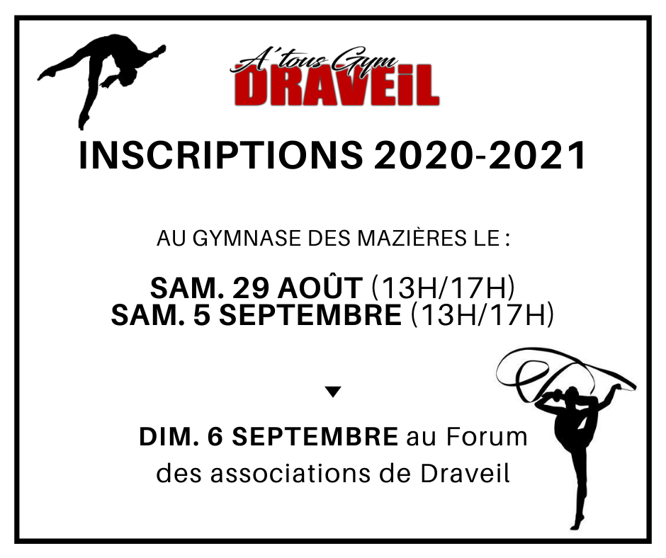 inscriptions gym 2020-2021