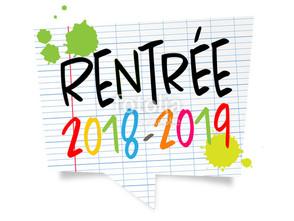 Inscriptions Rentrée 2018/2019