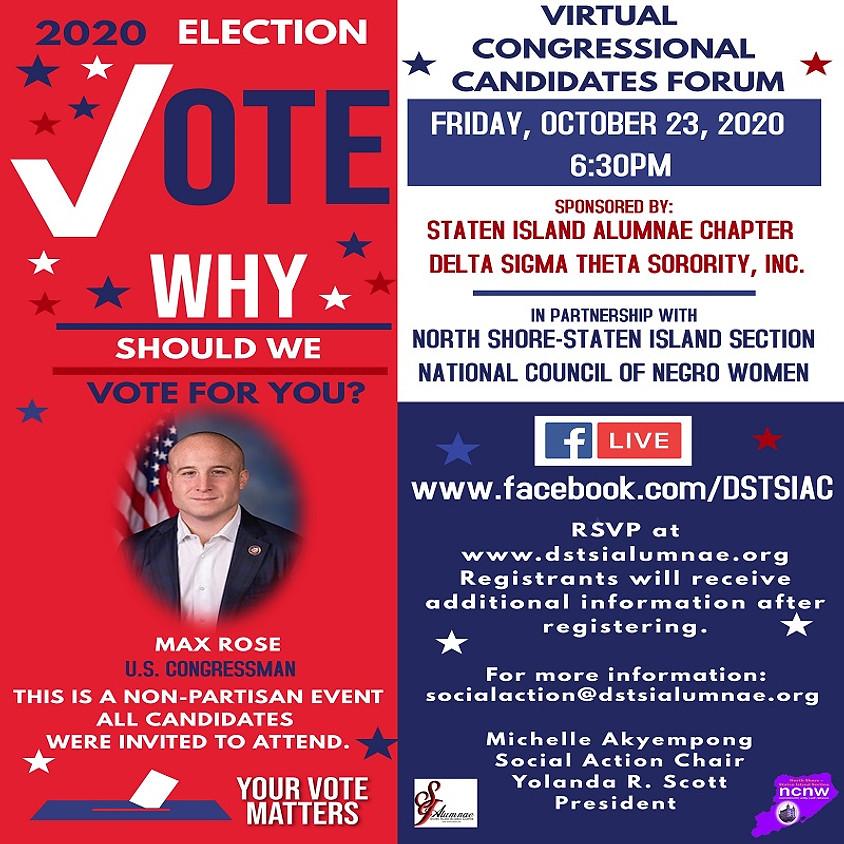 Virtual Congressional Candidates Forum