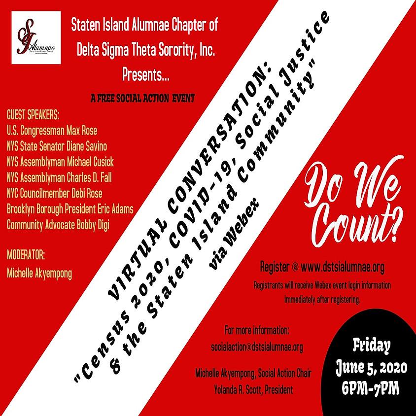 SIAC Virtual Conversation: Census 2020, Covid-19, Social Justice & The Staten Island Community