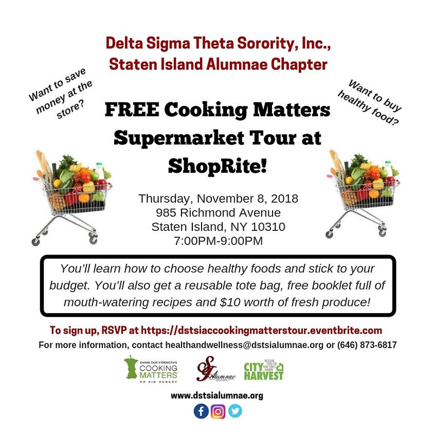 FREE Cooking Matters Supermarket Tour @ ShopRite
