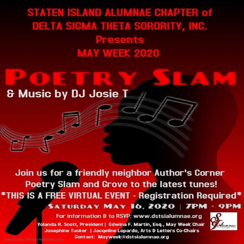 May Week 2020: Author's Corner Poetry Slam
