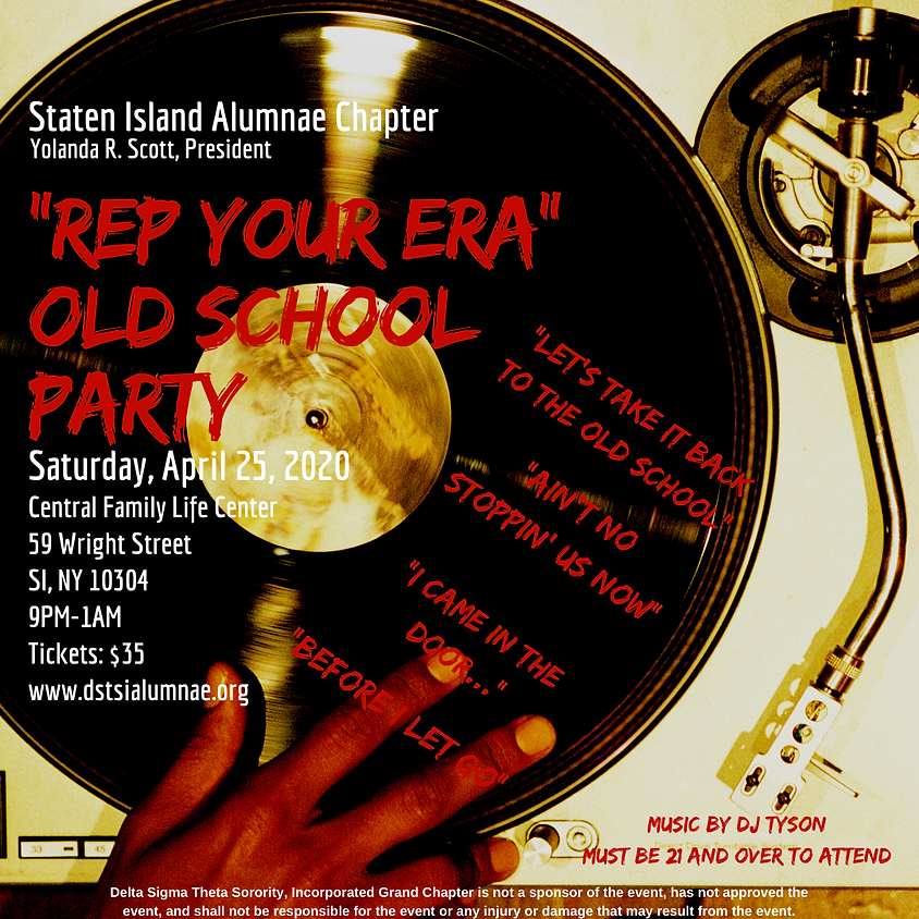 """2nd Annual Old School Party: """"Rep Your Era"""""""