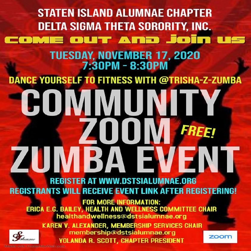 Community Zoom Zumba w/ @Trisha-Z-Zumba and SIAC!