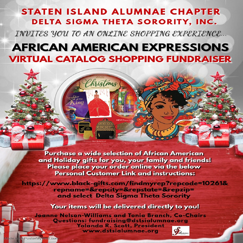 African American Expressions Virtual Catalog Shopping Fundraiser