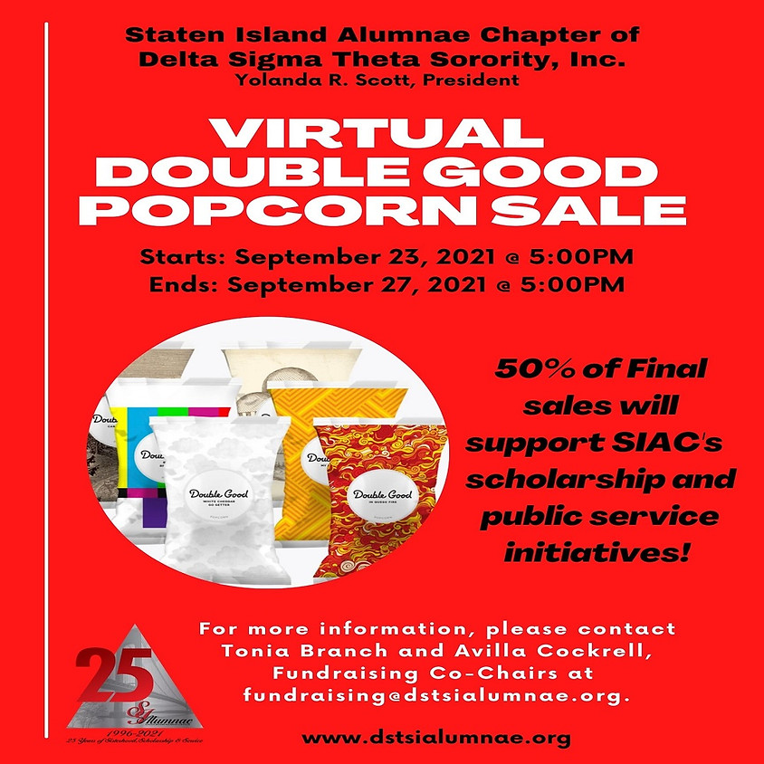 Virtual Double Good Popcorn Fundraiser