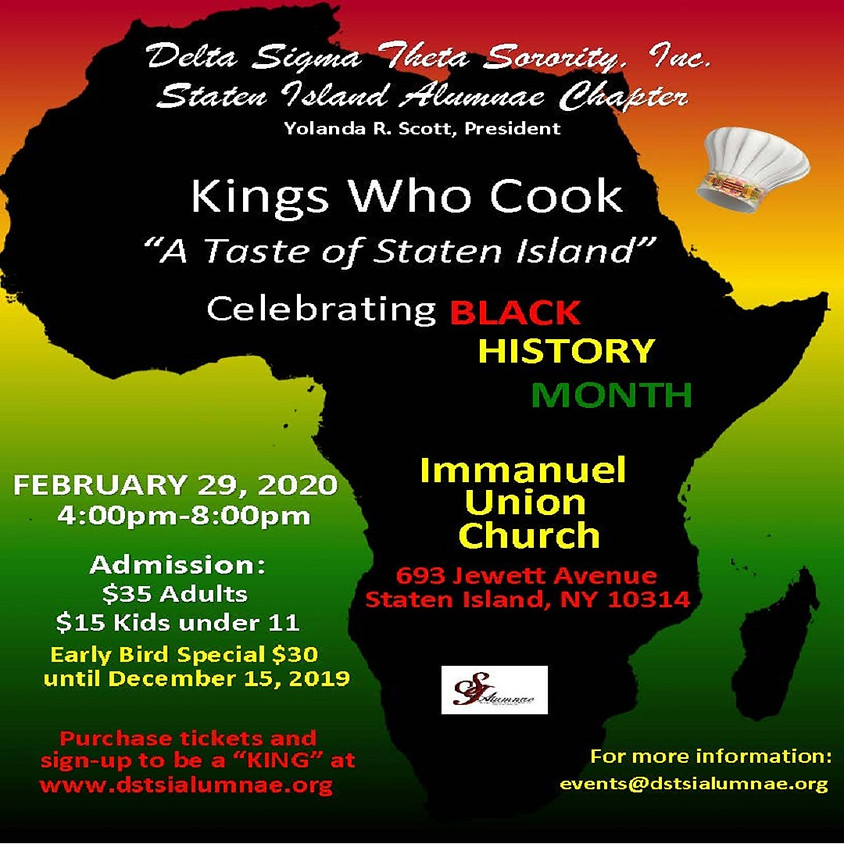 """Kings Who Cook """"A Taste of Staten Island"""" & """"King"""" Sign Up"""