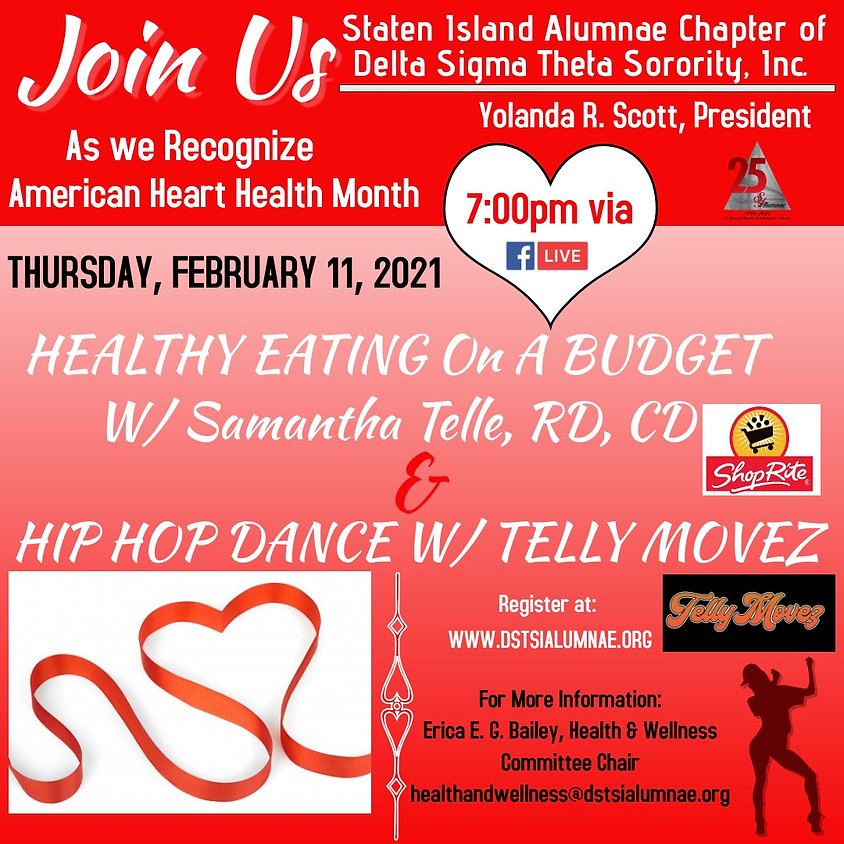 Healthy Eating on a Budget & Hip Hop Dance w/ Telly Movez