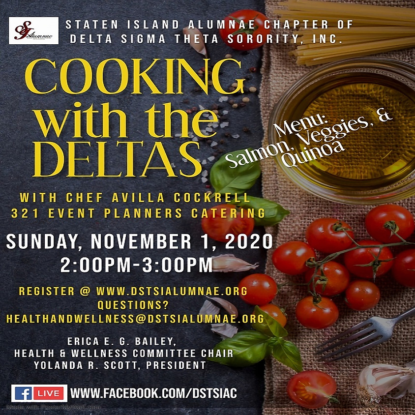 Cooking w/ The Deltas & Chef Avilla Cockrell