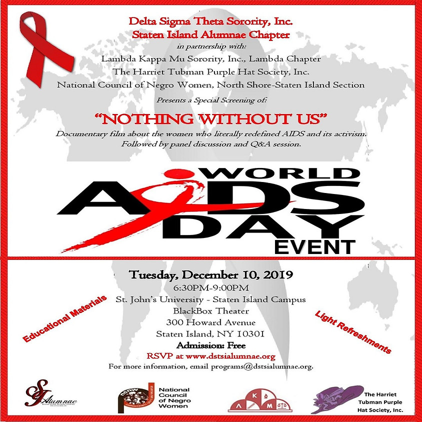 """World AIDS Day (Part II) Screening of """"Nothing Without Us"""""""