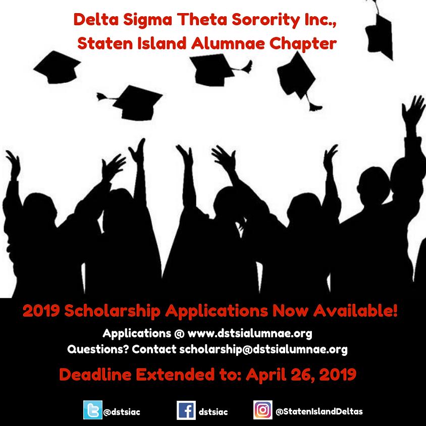 2019 Scholarship Application: Deadline Extended to April 26, 2019!