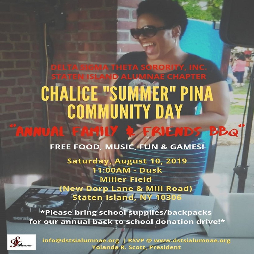 """Chalice """"Summer"""" Pina Community Day: Annual Family & Friends BBQ"""