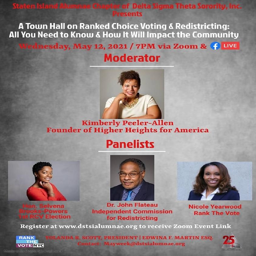 Town Hall on Ranked Choice Voting & Redistricting: All You Need to Know & How It Will Impact the Community