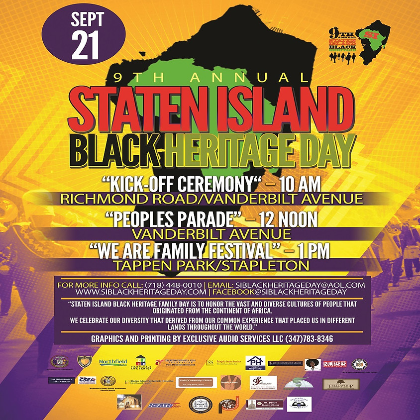9th Annual Staten Island Black Heritage Day and Parade