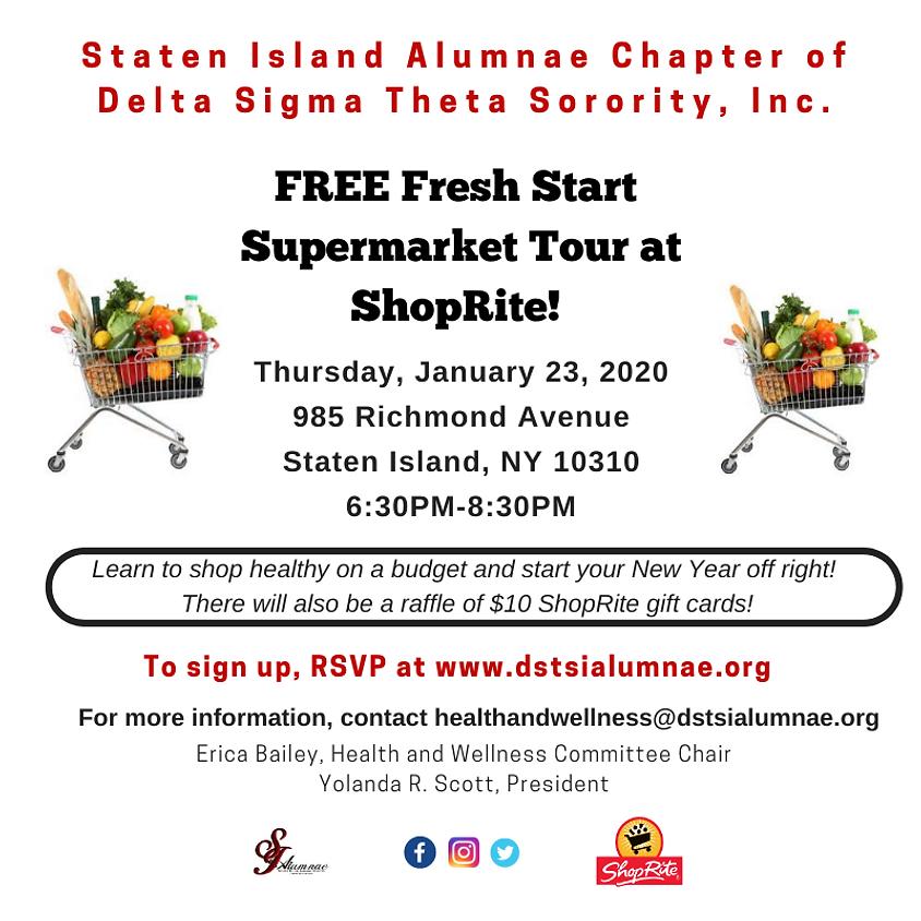 FREE Fresh Start Supermarket Tour @ ShopRite