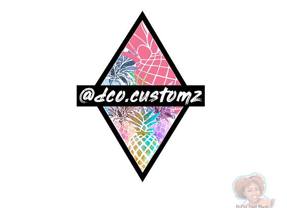 """Customz"" Sticker"
