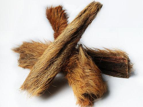 Peau de cerf avec poils