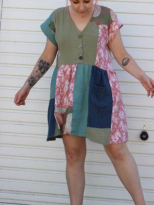 Custom patchwork dress short