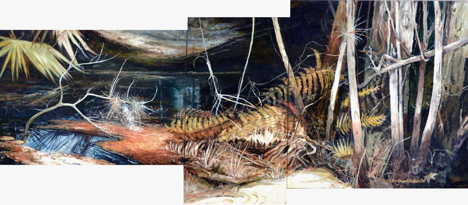Winter Hammock, 26x58, Oil on wood.jpg