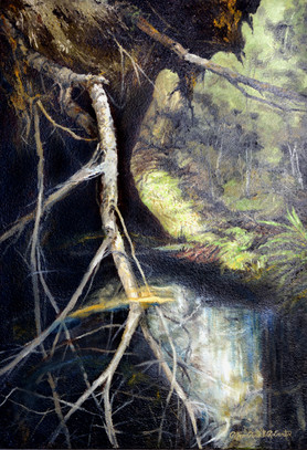 White Tree Down, 24 x 36, Oil on wood.jp