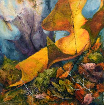 Leafy Delights, 36x36, Oil on wood.jpg