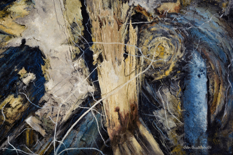 Naturally Abstract by Design 24 x 36, oil on wood