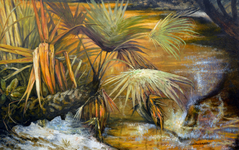 Autumn Waters 30x48, oil on wood
