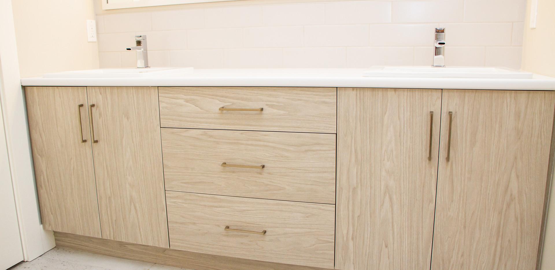 bathroom double sink
