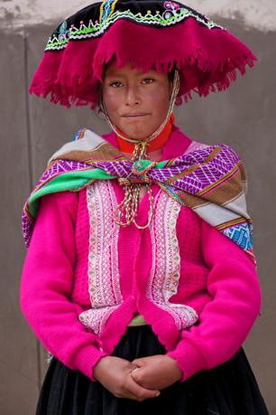 Quechua woman from Chilihuani, Peru