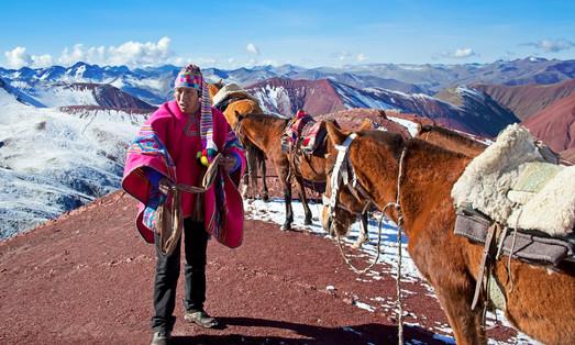Horseback trekking on the Andes outside Cusco, 5000mt of altitude