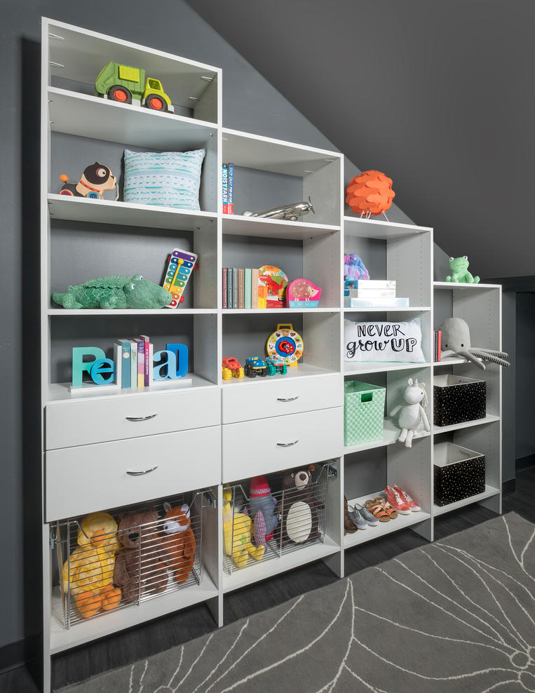 White Flat Panel Kids Under the Stairs A