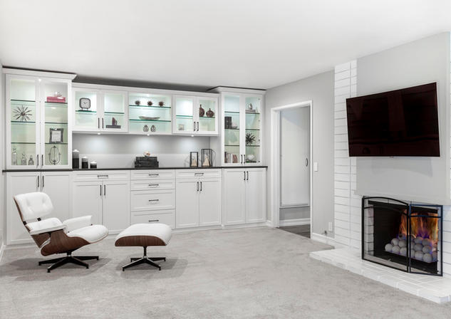 White & Licorice Wall Unit Angle with Fi