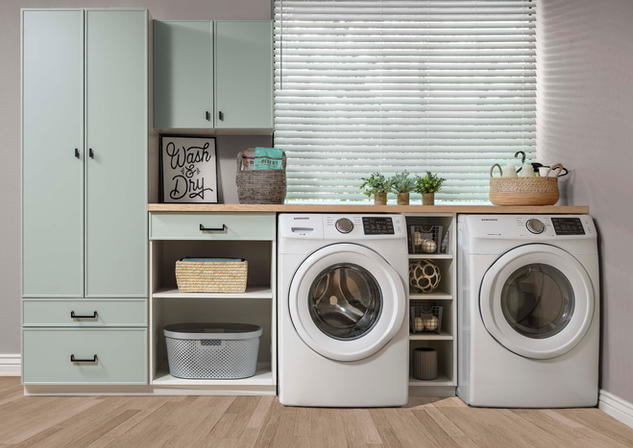 White and Dew Slim Shaker Laundry Room J
