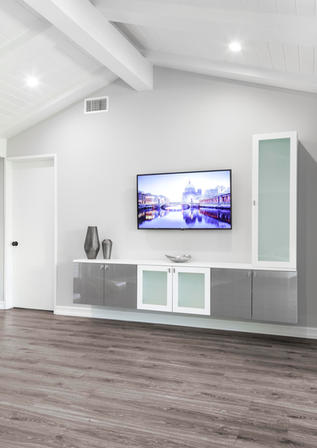 White & Mercury Entertainment Center Ful