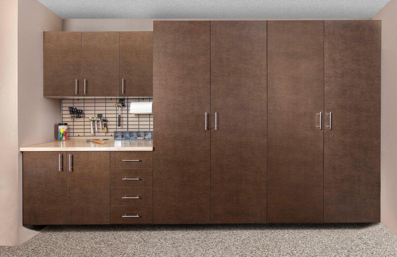 Bronze Cabinet Butcher Block Counter Gri