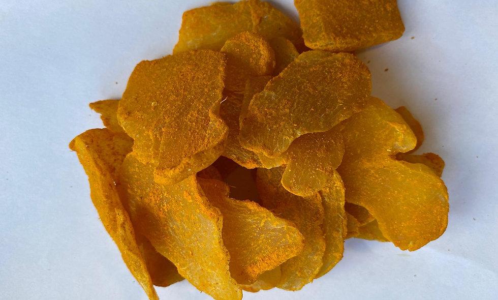Zenzero disidratato leggermente zuccherato con curcuma