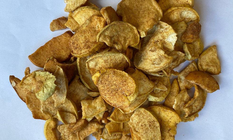 Mela chips con cannella