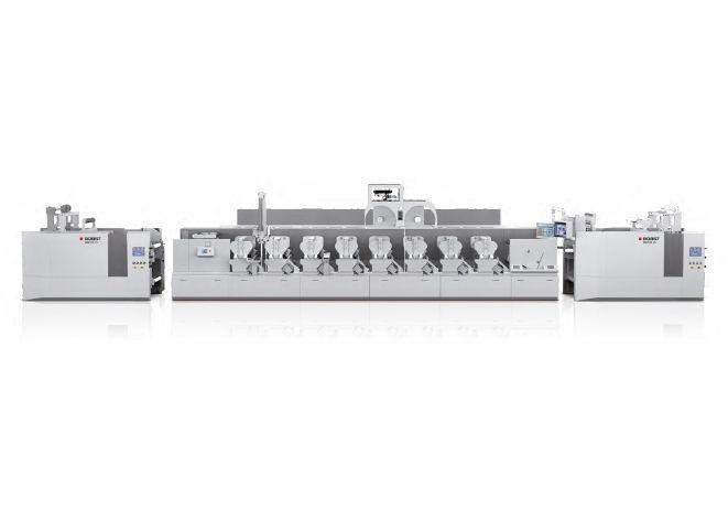 Bobst Flekso Rulo Etiket Ambalaj Karton Metalize Film PP Soğuk Yaldız Baskı Makinesi