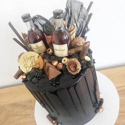 Custom alchohol and chocolate cake
