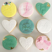 Personalised sugar cookies.