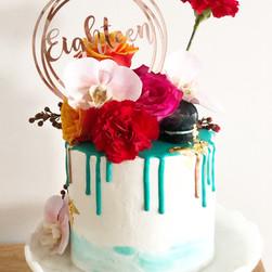 Custom celebration cake.